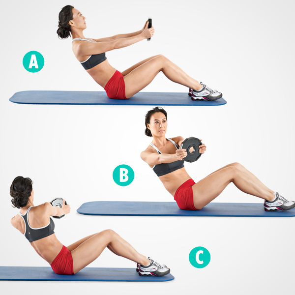 Stability Ball Russian Twist: LISS Training Day And Abs Circuit